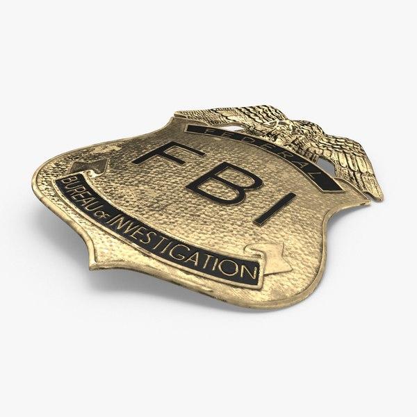 3D fbi badge