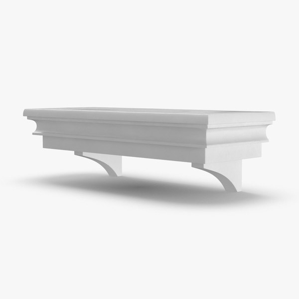 3D model wall shelf 1