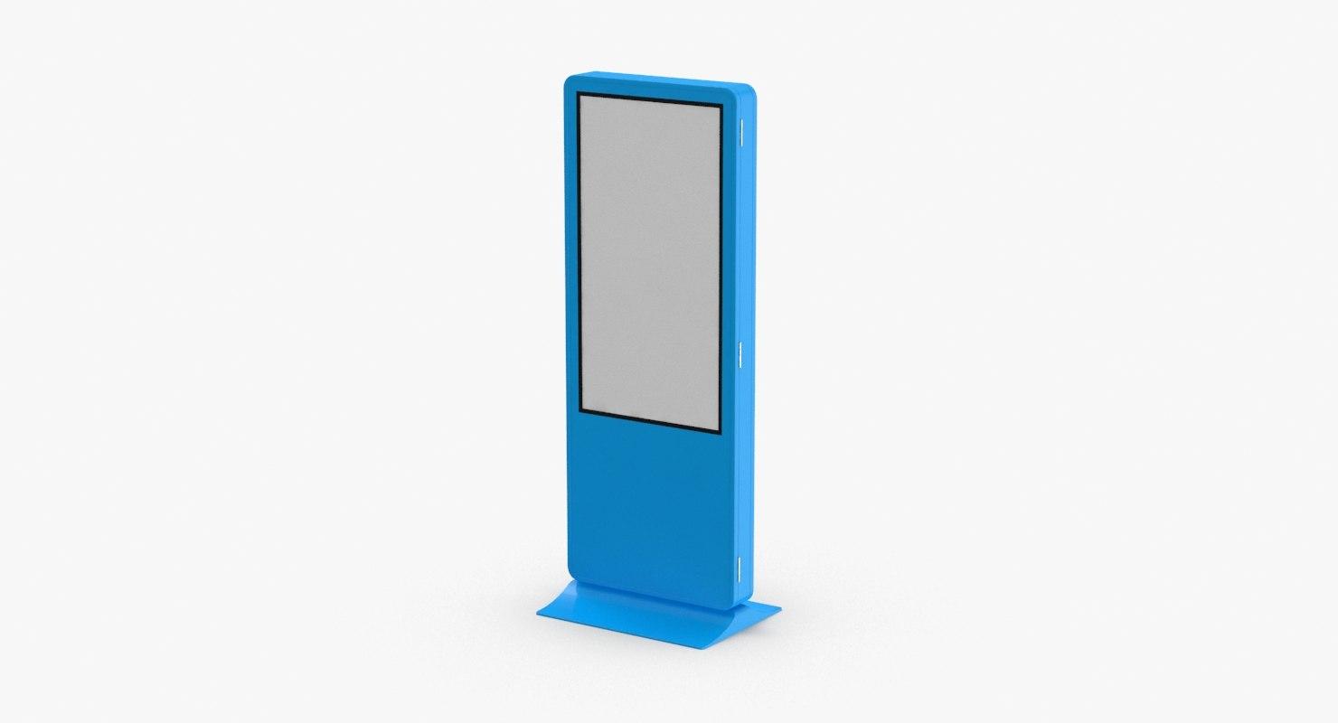 banner blue 3D model