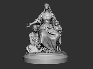 3D sculpture statue