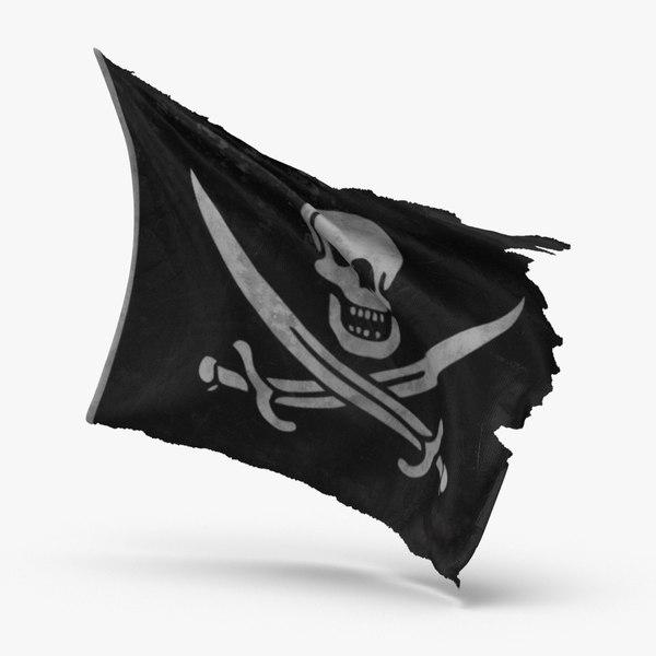 pirate flag 3D