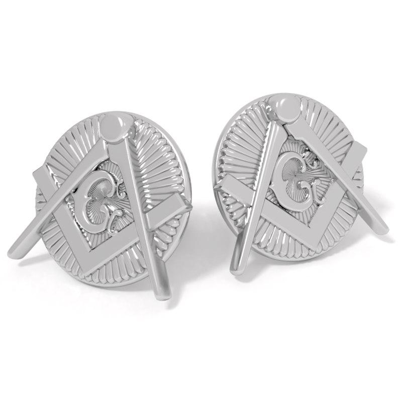 3D cufflinks mason model