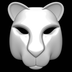 3D puma mask model