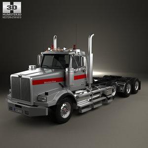 3D model western star 4900