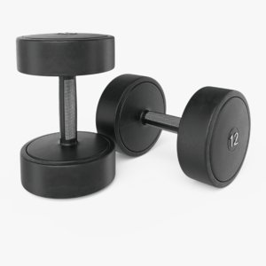 rubber dumbbells model