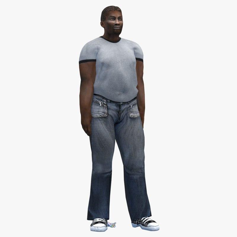 darryl man rigged biped 3D model