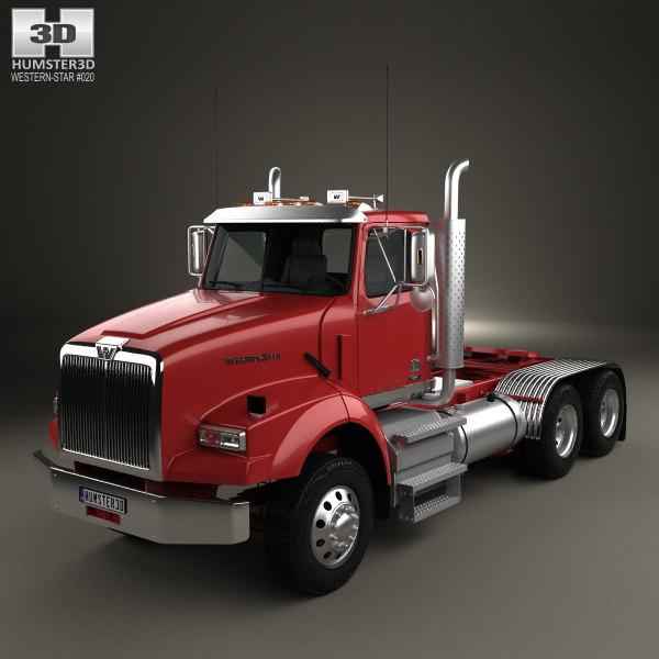 western star 4900 3D model