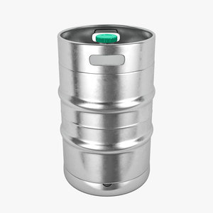 3D metal barrel beer model