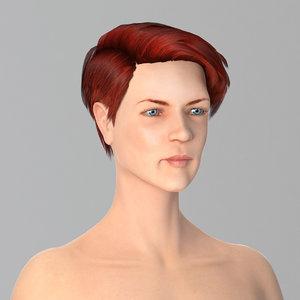 3D female character