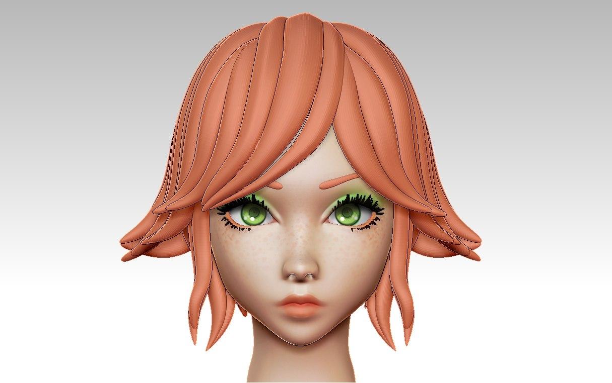 3D anime head