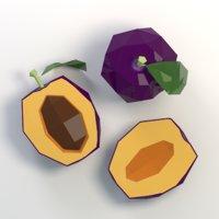 plum cartoon 3D model