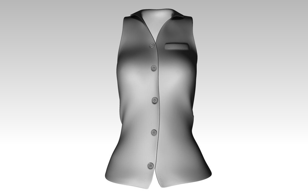3D button-up shirt