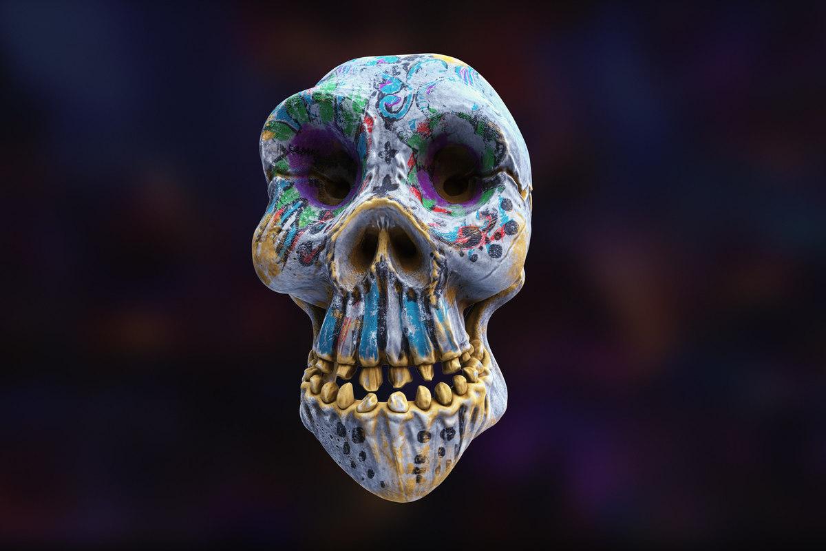 cartoon style skull 3D