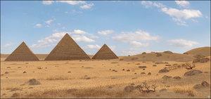 3D egypt egyptian pyramid model