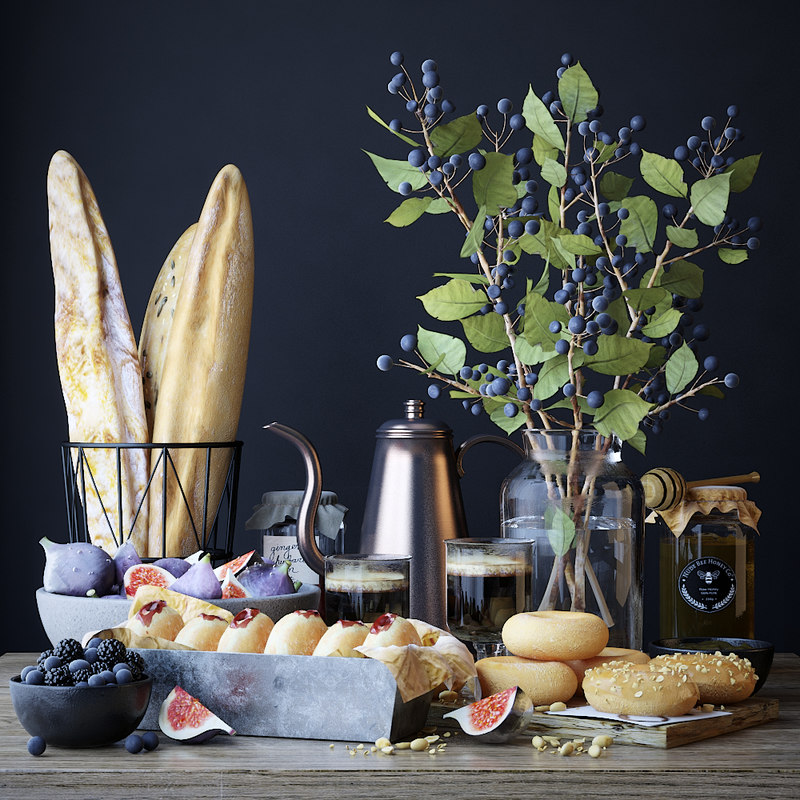 3D kitchen set donut model