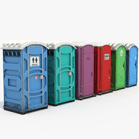 set toilets 3D model