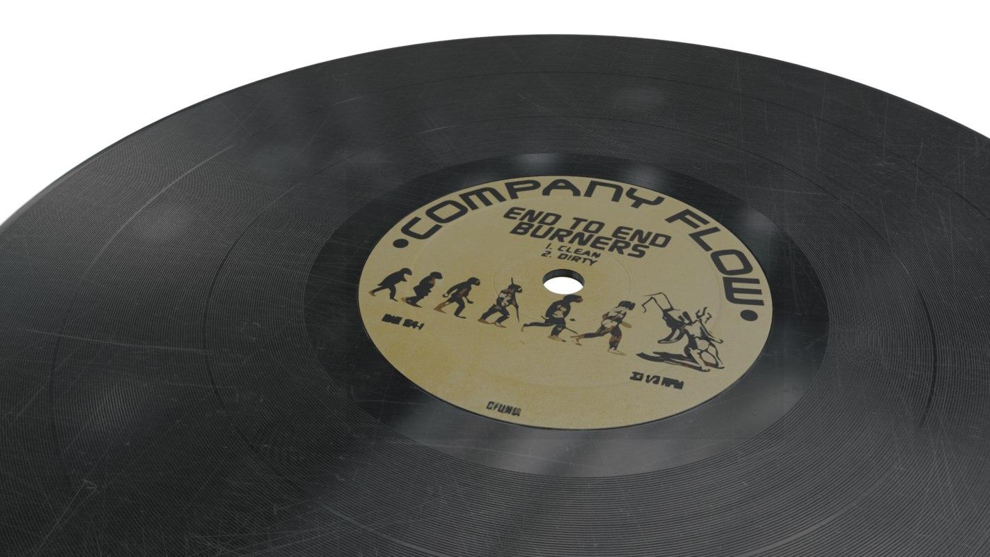 3D 12 vinyl record