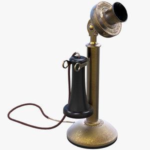 american bell telephone 3D model