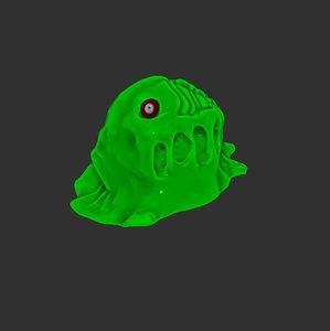 3D model green slime