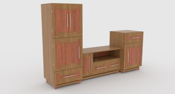 tv stand 60 3D model