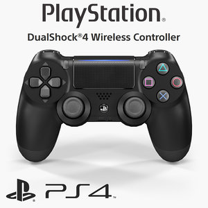 3D sony dualshock 4 wireless model