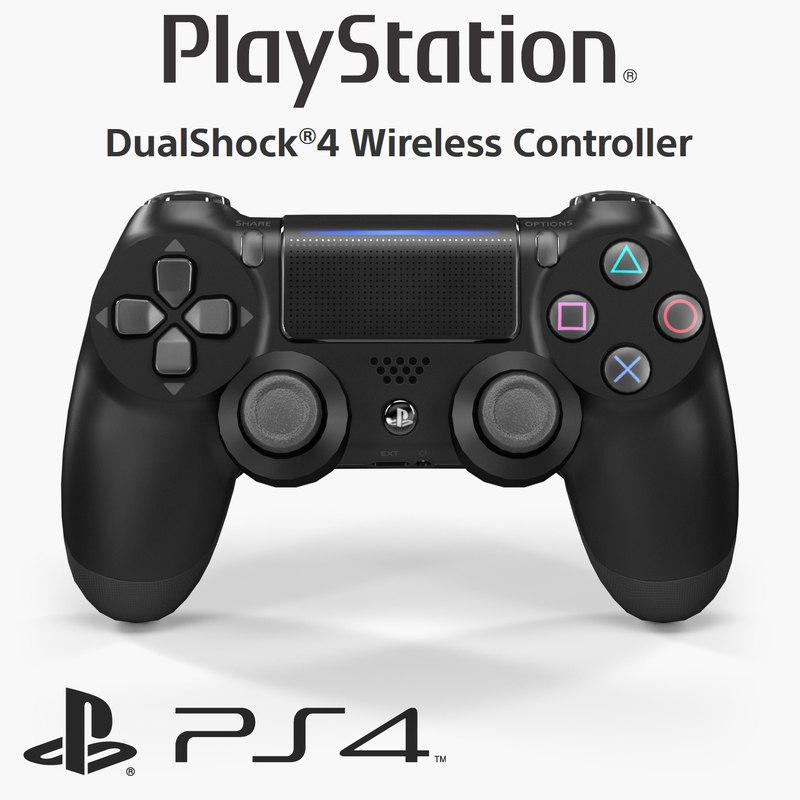 3D sony dualshock 4 wireless model