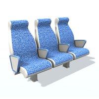 passenger seat 3 3D model