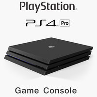 3D sony playstation 4 pro model