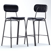 mila metal bar chair 3D