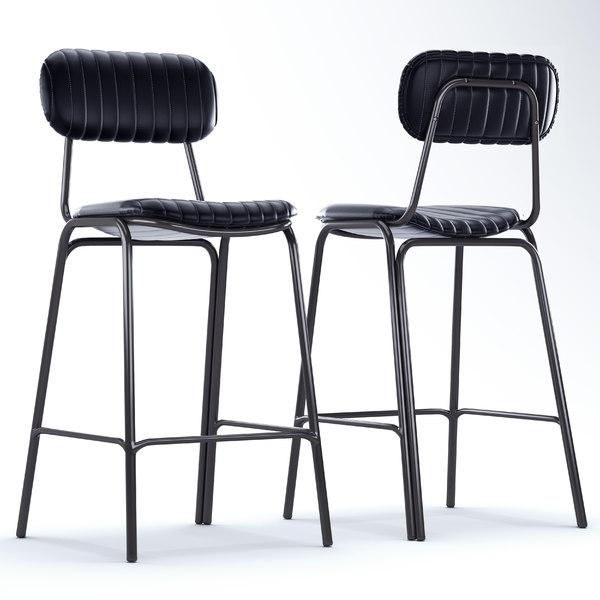 mila metal bar chair 3D