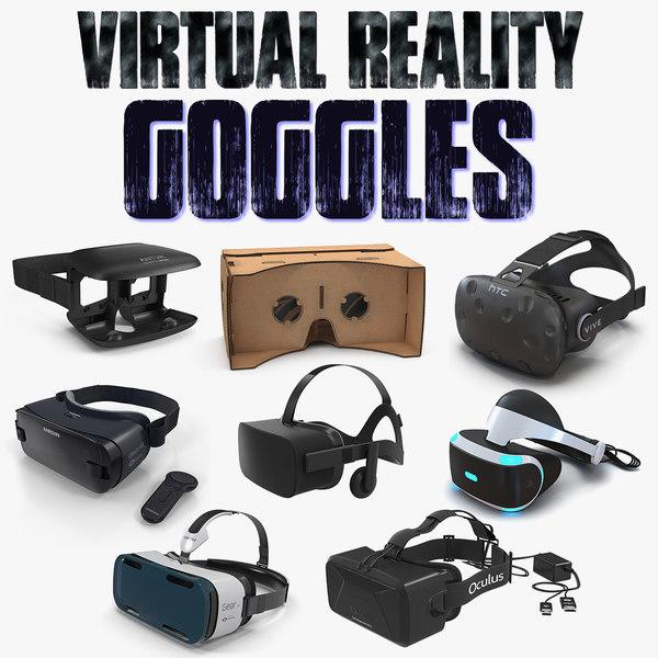 3D model virtual reality goggles 4