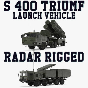 3D s-400 triumf launch vehicle model