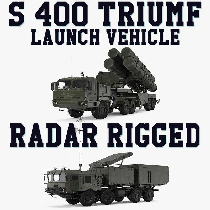 3D s-400 triumf launch vehicle model