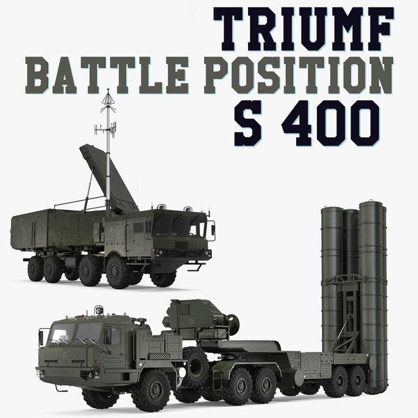 s-400 triumf battle position 3D model