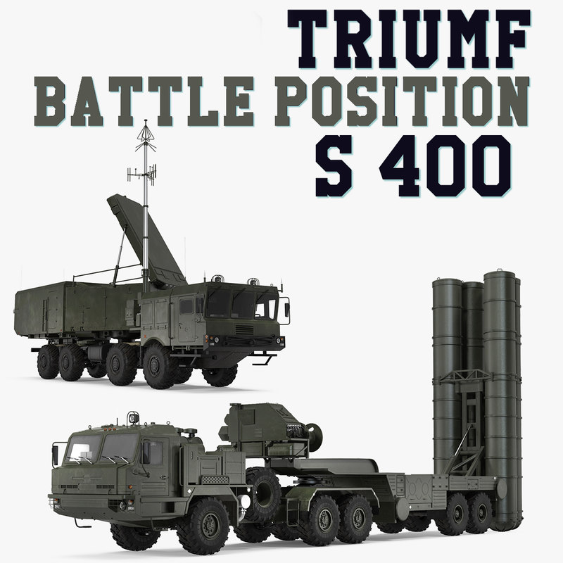 s-400 triumf battle position 3D model