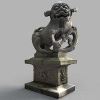3D lion-statue-008m lion sculpture