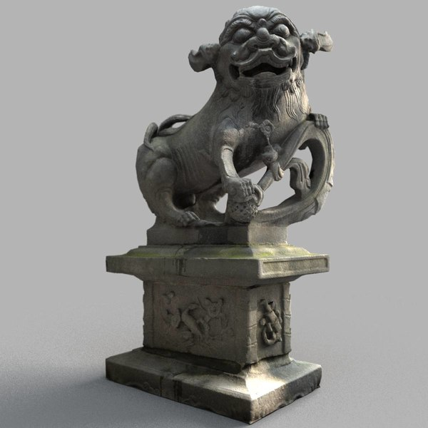 3D lion-statue-008m lion sculpture