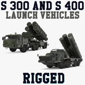 s-300 s-400 launch vehicles 3D