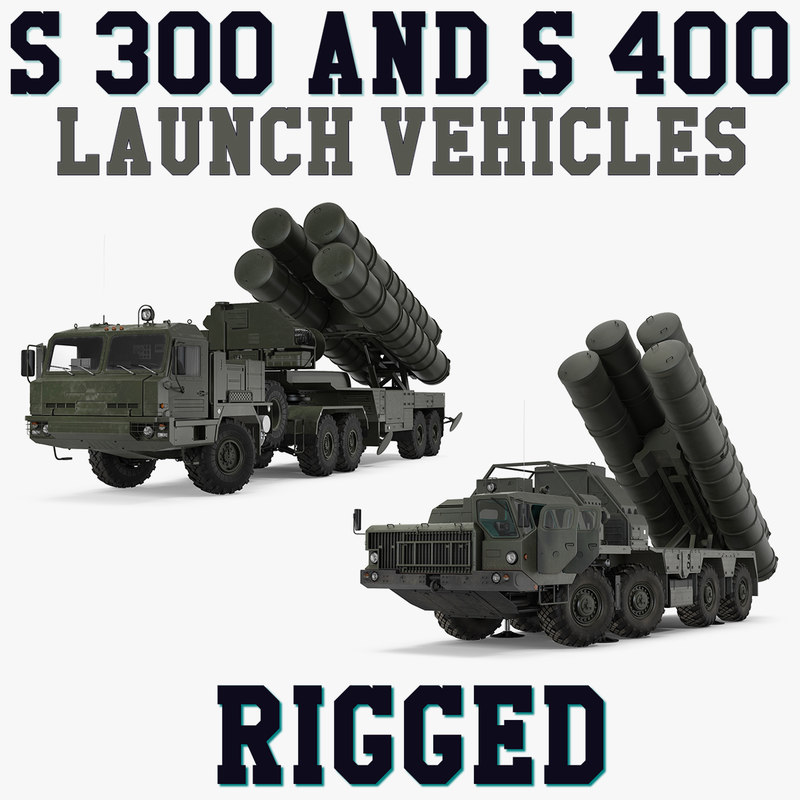 s-300 s-400 launch vehicles 3D