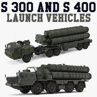 s-300 s-400 launch vehicles model