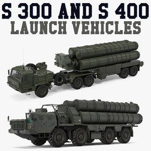s-300 s-400 launch vehicles model