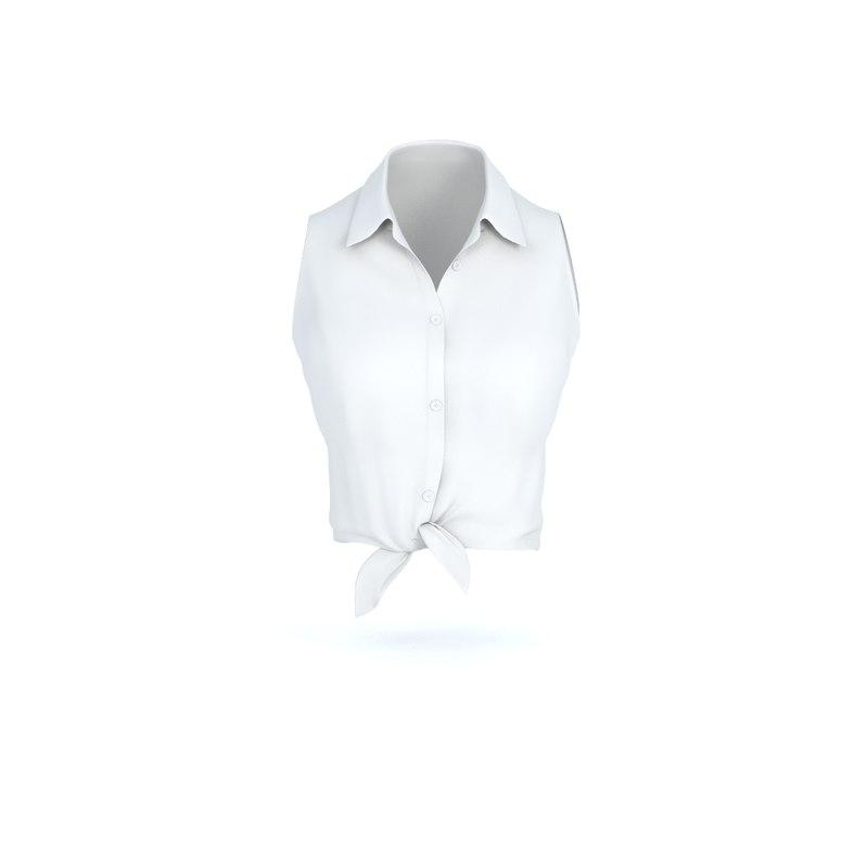 3D women shirt model