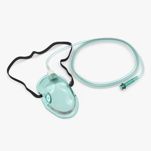pediatric oxygen mask tube model