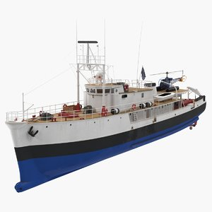 old scientific research vessel 3D