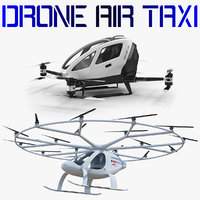 3D model drone air taxi vehicle