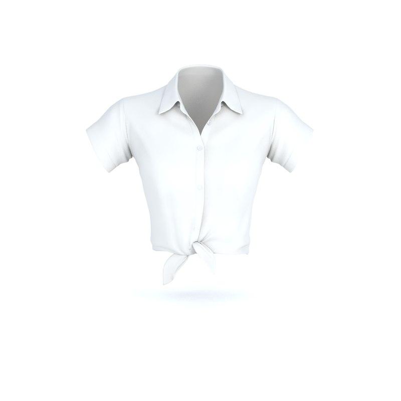 shirt women 3D