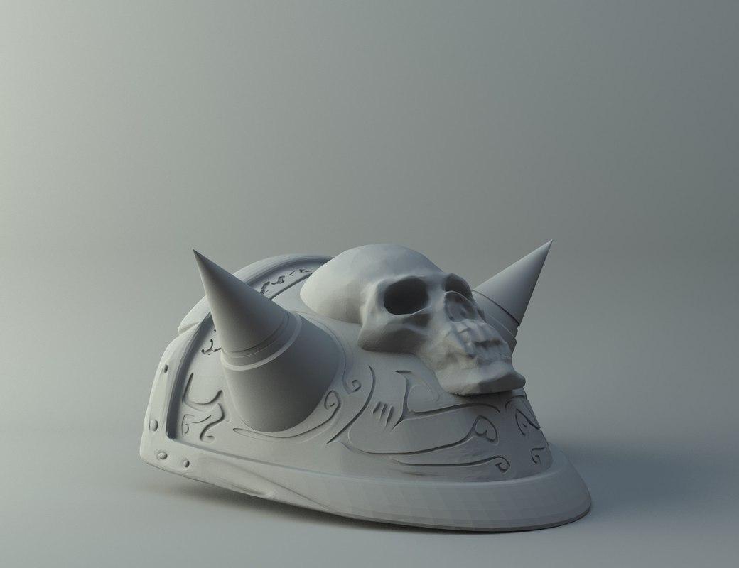 3D akamas shoulder plate print model
