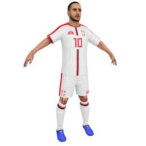 3D soccer player 2018 model