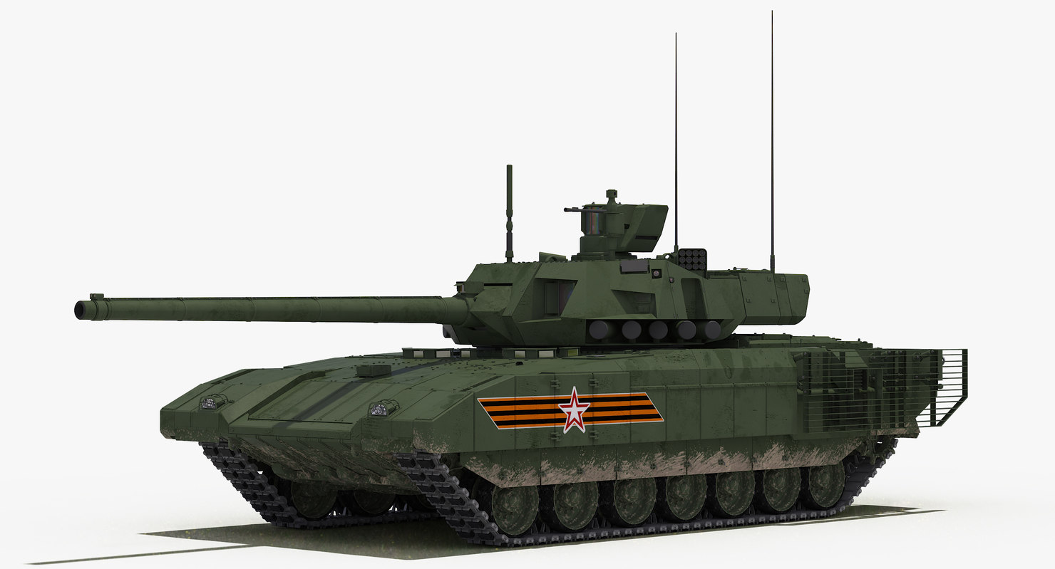 3D model t-14 armata green v-day