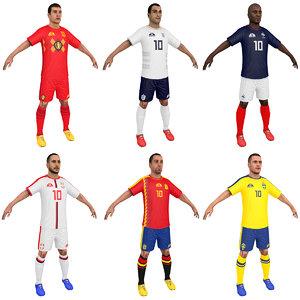 pack soccer player 2018 3D